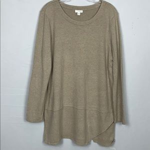 Pure Jill SuperSoft Oat meal Cotton Tunic Large